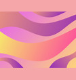 waves with liquid gradien abstract background vector image vector image