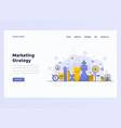 web design flat modern concept marketing strategy vector image