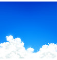 white clouds against blue sky natural background vector image