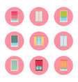 windows and curtains set vector image