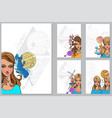 zodiac signs a set templates with beautiful vector image vector image
