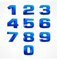 Alphabet isometric numbers in vector image