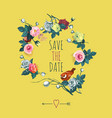 beautiful save the date design template with vector image