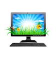 green computer vector image