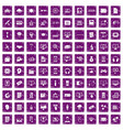 100 website icons set grunge purple vector image vector image
