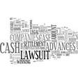 a guide to lawsuit cash advances text word cloud vector image vector image