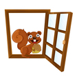 a window and squirrel vector image vector image