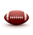 American Football ball isolated on white vector image vector image