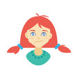 avatar of a girl vector image vector image