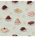 Background with chocolate candies vector image vector image