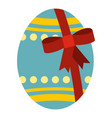 big easter egg icon isolated vector image vector image