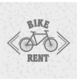 Bike rent logo concept Bycicle rent badge bicycle vector image
