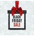 Black Friday sale square banner in form of vector image vector image