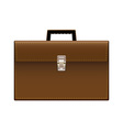 brown leather briefcase vector image vector image