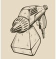 building electric paint sprayer vector image