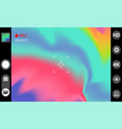 camera viewfinder modern interface concept vector image vector image