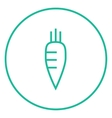 Carrot line icon vector image