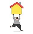 cartoon thief man with face masked running and vector image vector image