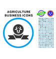 cattle award ribbon rounded icon with set vector image vector image