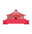 circus tent ribbon vector image