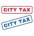 City Tax Rubber Stamps vector image vector image
