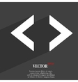 Code icon symbol Flat modern web design with long vector image