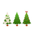 collection of cartoon christmas tree on vector image vector image
