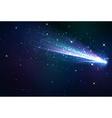Comet background vector image vector image