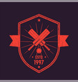 cricket vintage logo emblem vector image vector image