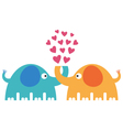 cute elephants vector image
