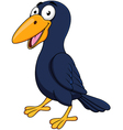Cute Raven cartoon vector image vector image