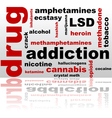 Drugs word cloud vector image