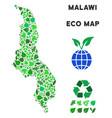 eco green mosaic malawi map vector image vector image
