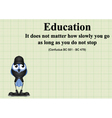 Education do not stop vector image vector image