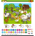 education game cartoon vector image vector image
