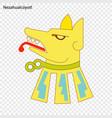 emblem of nezahualcoyotl vector image vector image