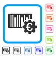 euro barcode setup framed icon vector image vector image