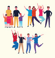family group avatar vector image