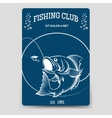 Fishing club brochure flyer template vector image vector image