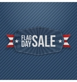 Flag Day Sale Banner with Ribbon and Shadow vector image vector image
