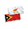 flags cyprus and east timor on a white vector image