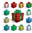gift boxes isolated on white vector image vector image