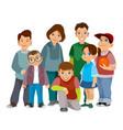 group smiling children vector image