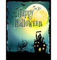 Halloween Background with haunted house EPS 10 vector image vector image