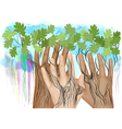 hands as tree vector image vector image