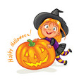 happy halloween funny little children vector image vector image