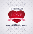 Happy Valentines day retro card love vector image vector image