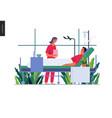 hospitalization - medical insurance vector image vector image