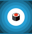 isolated seafood icon flat japanese food vector image