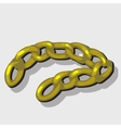 Massive yellow chain vector image